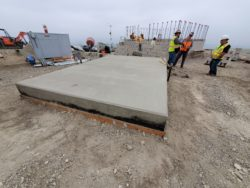 Concrete base foundation
